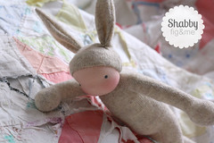 Shabby Rabbit (Fig & Me) Tags: rabbit doll natural handmade poupe lalka clothdoll popje stoffpuppe figandme