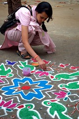 10 (akila venkat) Tags: street art colours patterns bangalore rangoli indianart