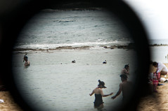 binoculars (grrlTravels) Tags: vacation hawaii waikiki oahu pacificocean snorkling honolulu swimmers throughthebinoculars hanaumabaynaturepreserve