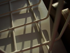 Mar2013 271 Shadows, freezer basket. (monica_meeneghan) Tags: lines shadows linescurves