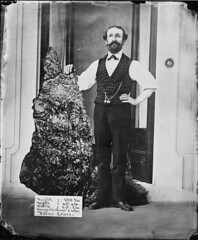 B.O. Holtermann with the Holtermann Nugget, North Sydney, 1874-1876 ? / American & Australasian Photographic Company