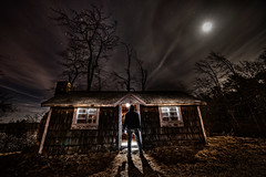The Visit (Frank C. Grace (Trig Photography)) Tags: moon lightpainting abandoned night dark empty exploring rustic scene creepy explore shack urbex thevisit trigphotography frankcgrace