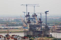 vl_00906 (Hanoi's Panorama & Skyline Gallery) Tags: bridge canon river construction asia structure vietnam hanoi 2012 việtnam hànội cầunhậttân