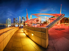 R.Y.B. (Scintt) Tags: city travel blue red sky urban panorama music water yellow festival skyline architecture modern night clouds buildings lights evening office twilight singapore long exposure glow cityscape colours slow skyscrapers dusk cityhall mosaic vibrant pano towers structures dramatic illuminated hour shutter cbd exploration stitched futuristic rafflesplace centralbusinessdistrict shentonway financialcentre scintillation marinabaysands esplanadeoutdoortheatre scintt