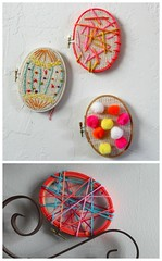 scrumdillydilly: embroidery hoop eggs (jessica wilson {jek in the box}) Tags: diy holidaydecor 2013 mar12 scrumdillydilly holidaydiy easterdiy embroideryhoopeggs