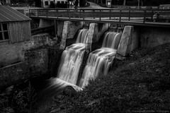 Alekupte Waterfall (Jekabs' Photography) Tags: waterfall longexposure nature water lg bw