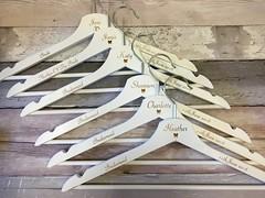 Wedding Hangers (VintageLaserDesigns) Tags: laserengraved personalised whiteweddinghangers weddingideas brideideas bridleparty bride weddinghanger wedding