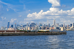 New Jersey (bachsoloist) Tags: sky clouds landscape beautiful day summer 2016 downtown new york ny nyc park wind camera nikon d5200 empire state skyscrapper big apple city blue inspiring