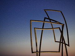 The sculpture (Lenka Trunkatova) Tags: 35mm nikon d7000 architecture sunset abstract lines urban sculpture
