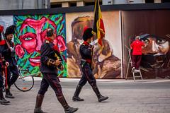 Urbana - Bruxelles - Chantier Fortis (Rue Ravenstein) (saigneurdeguerre) Tags: europe europa belgique belgium belgi belgien belgica bruxelles brussel brssel brussels bruxelas streetart street streetshot art graffiti artiste urbana asbl canon 5d mark iii 3