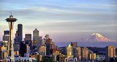 Seattle (MooseNut12) Tags: canoneosm3 efm55200mmstm seattle seattleskyline mountrainier
