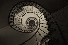 Treppe s/w (rivende) Tags: rivende eos 70 d treppe treppenauge sw verlassen ferme urbex