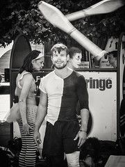 20160824-0037-Edit (www.cjo.info) Tags: 2016edinburghfestivalfringe alice bw edinburgh edinburghfestival edinburghfestival2016 europe europeanunion highstreet mzuiko m43 m43mount microfourthirds nikcollection oldtown olympus olympusmzuikodigitaled40150mmf4056r olympusomdem10 royalmile scotland silverefexpro silverefexpro2 unitedkingdom westerneurope zuiko beard blackwhite blackandwhite circus citycenter club digital face facialexpression facialhair festival juggler juggling makeup man monochrome people smile software streetperformer technique