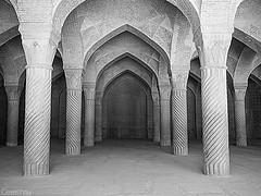 Vakil Mosque Shiraz, Iran (Never.Stop.Searching.) Tags: shiraz vakilmosque blackwhite columns architecture iran persia