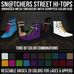 Sn@tchers Street Hi-Tops Vendor Ad LG (Tess-Ivey Deschanel) Tags: sntch snatch secondlife sl second life sexy style specials new newrelease newreleases iveydeschanel ivey ihearts deschanel clothing clothes costumes clubwear casual slink omegasystem outfits omega mesh model meshclothing meshclothes models