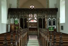 Bramfield, Suffolk (Vitrearum (Allan Barton)) Tags: bramfield suffolk church medieval roodscreen polychromy saints apostles