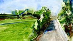 route 08 (Frdric Glorieux) Tags: frdricglorieux france peinture painting art a4 route road acryl