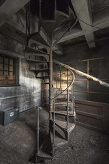 Spiral Stairs (Camera_Shy.) Tags: old mill derelict abandoned disused rotten urban exploration ue scotland industrial industry spiral stairs