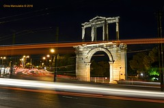 Arch of Hadrian - Athens _ DSC1784 (Chris Maroulakis) Tags: handrian arch gate athens night shot nikon d7000 chris maroulakis 2016 nikon1224mm