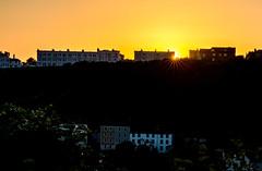 Evening Walk (Peter Leigh50) Tags: hastings sunset sun sky skyline town