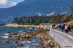Still Summer In Vancouver (Clayton Perry Photoworks) Tags: vancouver bc canada summer explorebc explorecanada waves seawall people