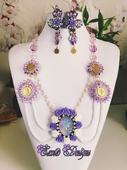 "Cameo ""Shades of Purple"" (ExoticDesigns) Tags: cameo beaded beadwork"