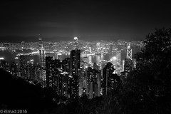 Hong Kong cityscape at Night... (EHA73) Tags: summicronm1228asph night cityscape leica leicamm typ246 bw hongkong travel monochrome nightphotography victoriapeak victoriaharbor towers skyscrapers lights