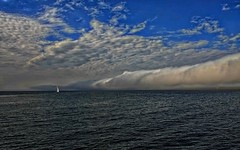 Ahead of the Storm (robinlamb1) Tags: sailboat seascape water clouds nature bluesky stormclouds darksea blaine wa outdoor