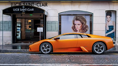 Car and Girls (haiwepa) Tags: orange paris france ledefrance lamborghini murcielago