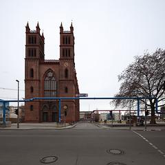 Friedrichswerdersche Kirche Berlin (artenovaphotos) Tags: berlin architecture canon germany square deutschland stitch shift east tilt ost tse 17mm davidbank