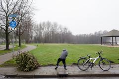 (Peter de Krom) Tags: christmas boy tree bicycle bergenopzoom