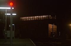 Shrewsbury At Night HR Scan (Deepgreen2009) Tags: station night dark lights shropshire mechanical large railway shrewsbury lit signal semaphore signalbox salop colourlight