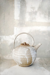 Abstract Tea (ElenaRay) Tags: stilllife abstract hot color art kitchen painting ceramic asian creativity photography grey beige artistic tea drink painted gray beverage objects trends zen service matching decor tones hospitality neutral