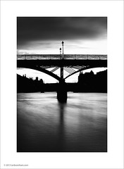 Pont des Arts, Paris (Ian Bramham) Tags: bridge bw paris seine river photo bridges pontdesarts ianbramham