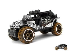HotWheels - Baja Bone Shaker (Leap Kye) Tags: new wood car truck bug toys model desert jeep offroad dune models larry pirate hotwheels shaker 164 bone baja custom mattel 1000 jollyroger marauder diecast 2013 armedclown309