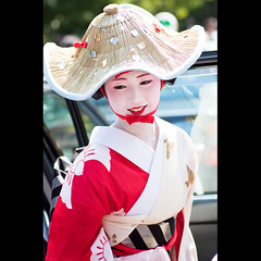 (Masahiro Makino) Tags: festival japan photoshop canon eos kyoto kiss maiko adobe   tamron 90mm f28 sayaka lightroom x3 gionmatsuri  hanagasajunko    hanagasaflowerhatprocession 20100724095346canoneoskissx3ls640p
