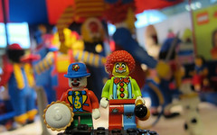 LEGO Clown School (wiredforlego) Tags: copenhagen denmark toy lego cph minifigure legoworld cmf 8805 8683