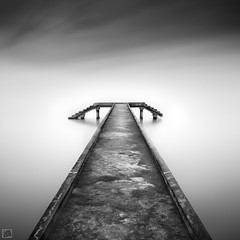 Infiniti (Shahrulnizam KS) Tags: blackandwhite concrete amazing nikon jetty fineart smooth tranquility le stunning incredible tranquil nd400 nd8 cs5 nikond90 silverefexpro concretejetty