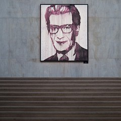 YSL par ASH (gherm) Tags: street portrait paris france art wall museum canon concrete graffiti paint muse spray peinture step rue mur marche palaisdetokyo bombe bton yvessaintlaurent gherm formatcarr victorash eos5dmarkii 1302163815