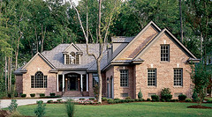 Plan #331-The Milford - Customer Submitted Photos (Donald Gardner) Tags: roof house brick home kitchen donald porch column milford vaulted plans gable gardner dormer palladian onestory diningrooms houseplans 331 homeplans mastersuites masterbedrooms