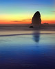 Time to say good night - Needles of the Cannon Beach , Oregon (janusz l) Tags: ocean longexposure sunset beach water colors fog oregon evening saturated pacific goodnight cannon bluehour needles lastlight janusz leszczynski timetosay 093251