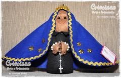 NOSSA SENHORA APARECIDA EM FELTRO (CRICOISAS by Crislaine Godoy) Tags: santa doll craft feltro boneca decoração santo bonecadepano nossasenhoraaparecida cricoisas crislainegodoy