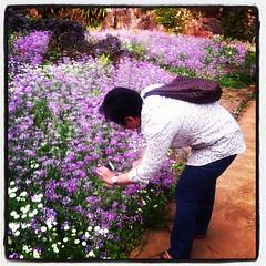 แม่ถ่ายรูปดอกไม้เล่นครับ