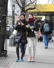 catnap (omoo) Tags: newyorkcity girls asian japanese chelsea manhattan cellphone streetscene catnap eyesclosed japanesegirls prettygirls dscn5553 girlwithamobilephone west14thstreetbetween8thand9thavenues buffaloplaidscarf strandbookstorebookbag
