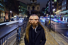 Multiple Long Exposure on the Strand (Anatoleya) Tags: city 3 guy london face dreadlocks night strand canon prime evening long exposure traffic faces mark f14 iii multipleexposure multiple 5d 24mm hdr dreds f14l 5d3 anatoleya