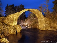 Carr Bridge at Night (Rick Ellerman) Tags: bridge river scotland picasa aviemore cairngorms carrbridge dayandnight