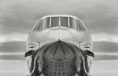 Nowhere fast, British Airways Concord (wowography.com) Tags: nyc winter sky bw usa ny newyork reflection skyline museum clouds photoshop plane pier nikon shiny aircraft aviation jet explore handheld intrepid aircraftcarrier concord bac lightroom supersonic hss ussintrepid 18200mm d90 turbojet reddit wowography 2013 cs5 145015 machineporn silverefexpro wowographycom britishairwaysconcord adandonporn