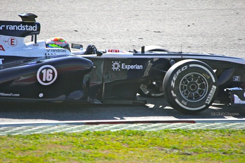 Pastor Maldonado in his Williams at Formula One Winter Testing, March 2013