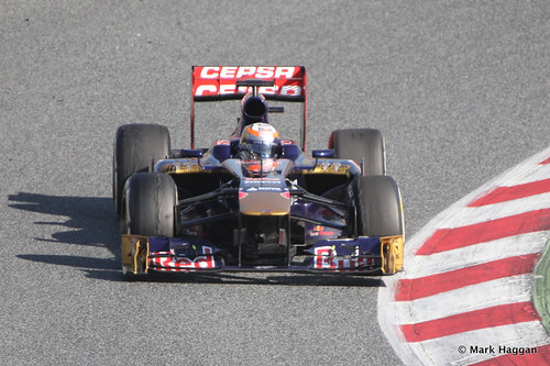 Jean-Eric Vergne's Torro Rosso in Formula One Winter Testing 2013