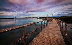 Boardwalk Blues (Laszlo B) Tags: longexposure sunset nikon boardwalk southaustralia gardenisland portadelaide laszlob